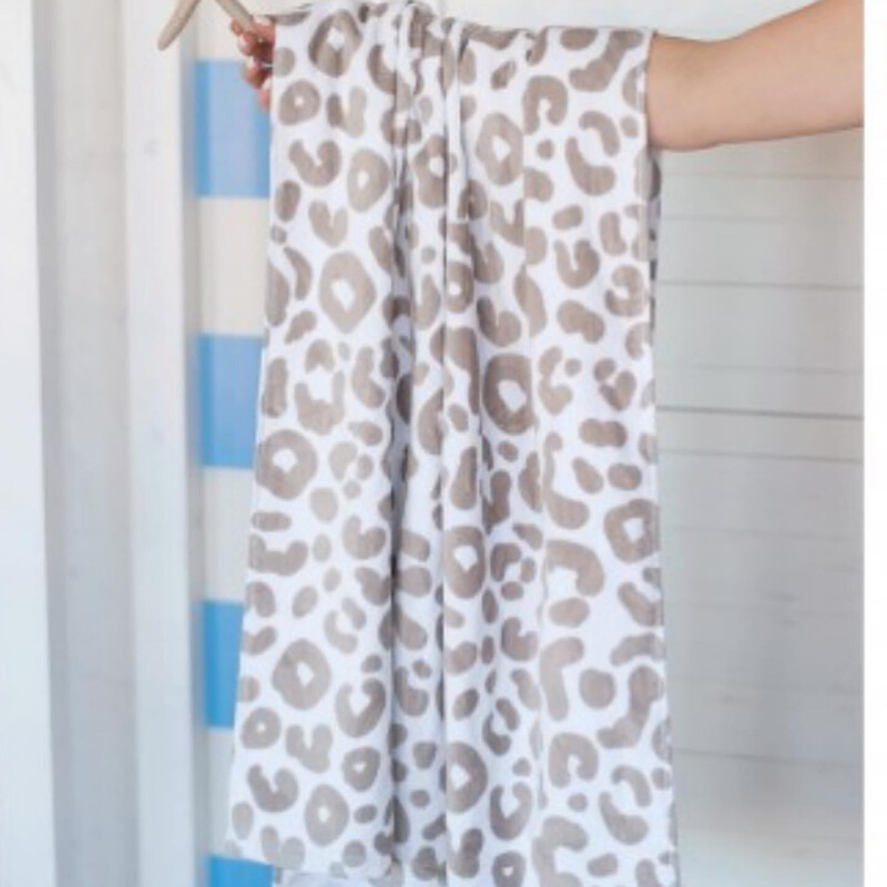 VL Towel Natural Leopard