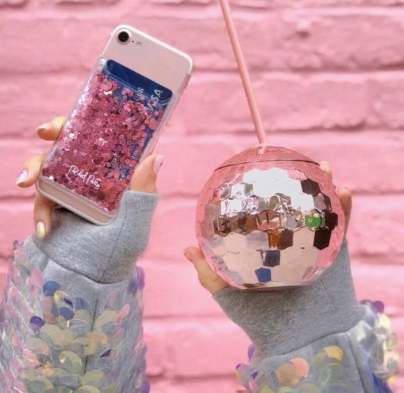 Packed Party Phone Card Holder Pink Confetti