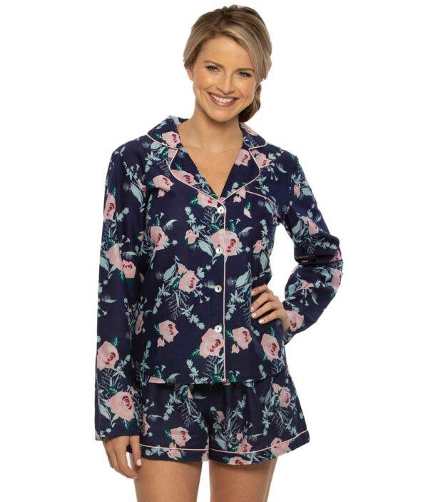 TPB Floral PJ Set Navy XL