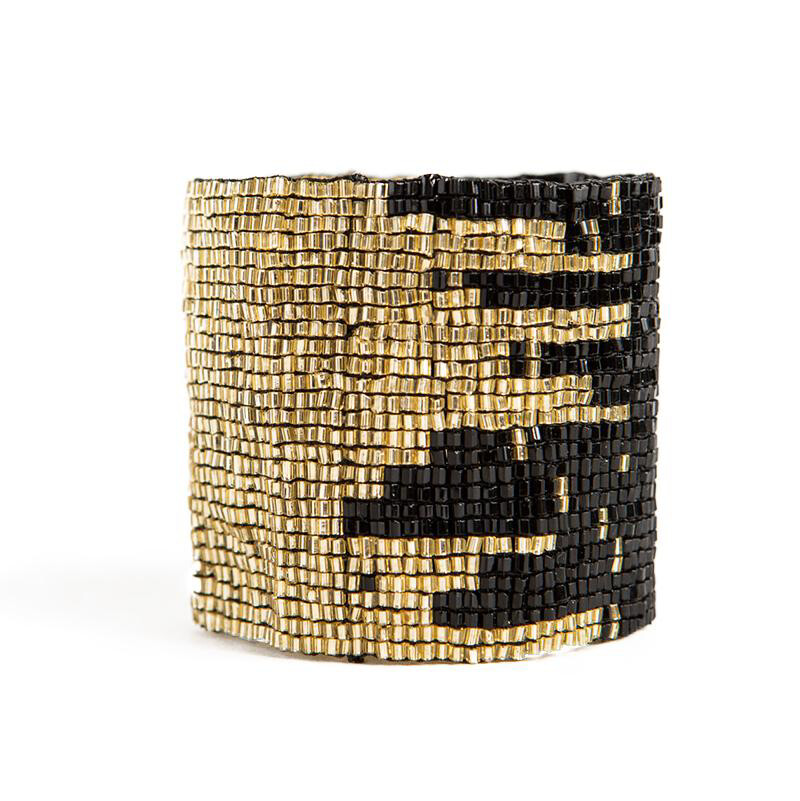 Ink & Alloy Cuff Black/Gold 503