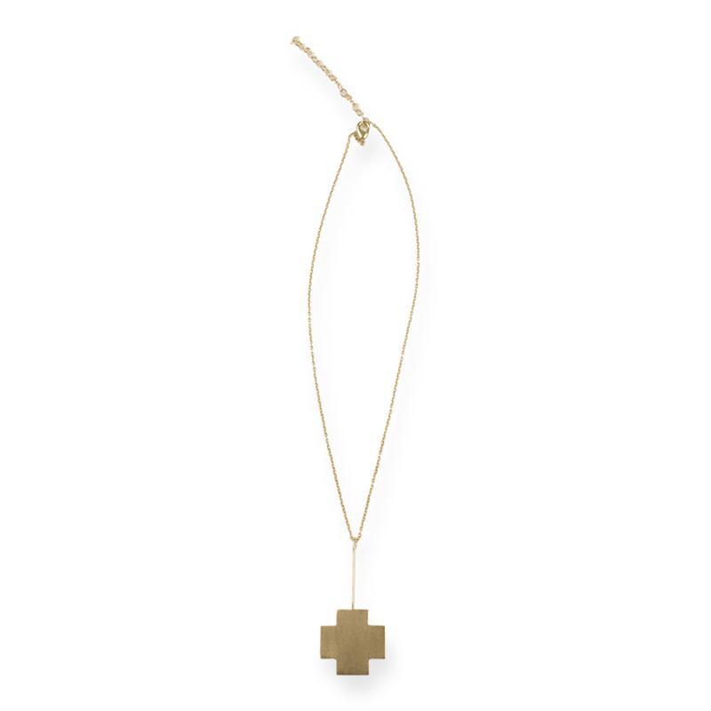 Cross Stick Necklace