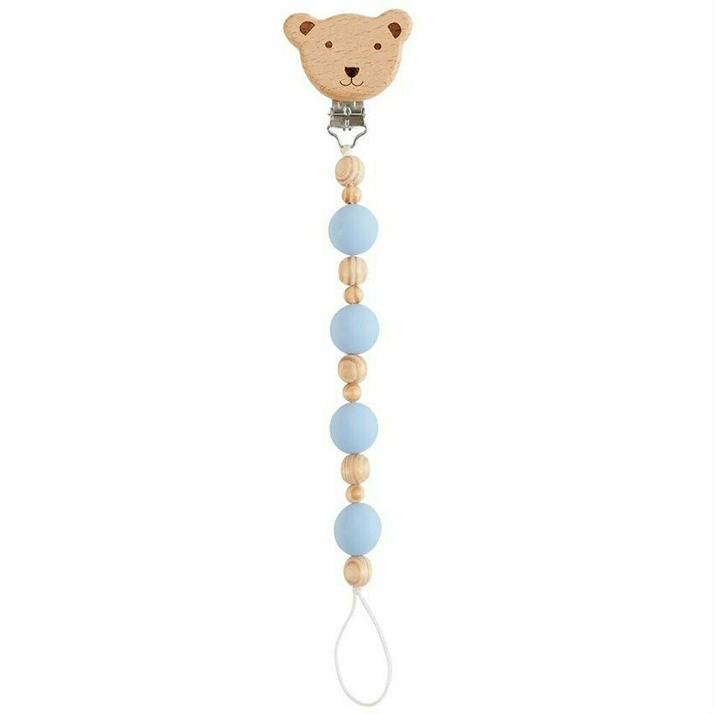 MP Wooden Pacifier Clip Bear