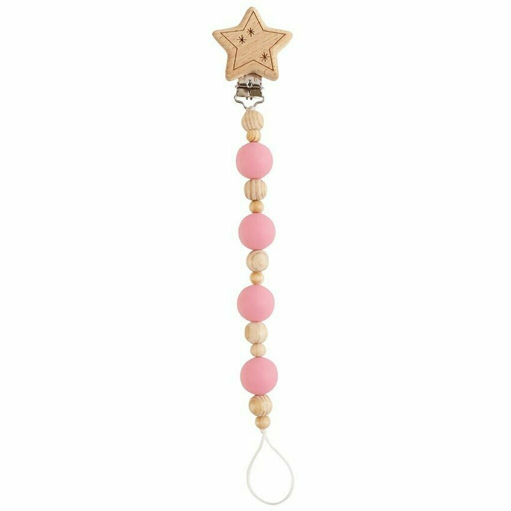 MP Wooden Pacifier Clip Star