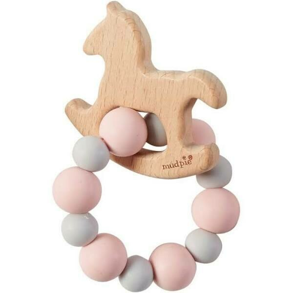 MP Wooden Teether Pink Horse
