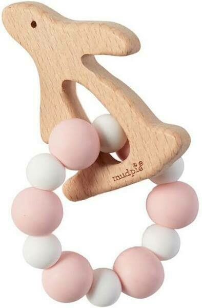 MP Wooden Teether Pink Rabbit