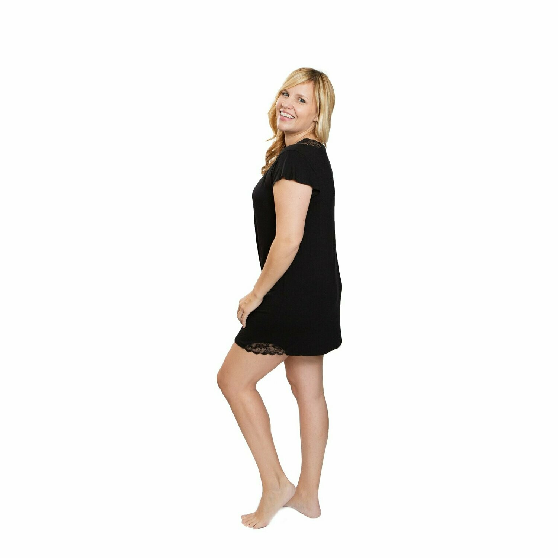 Lace Gown Black Large