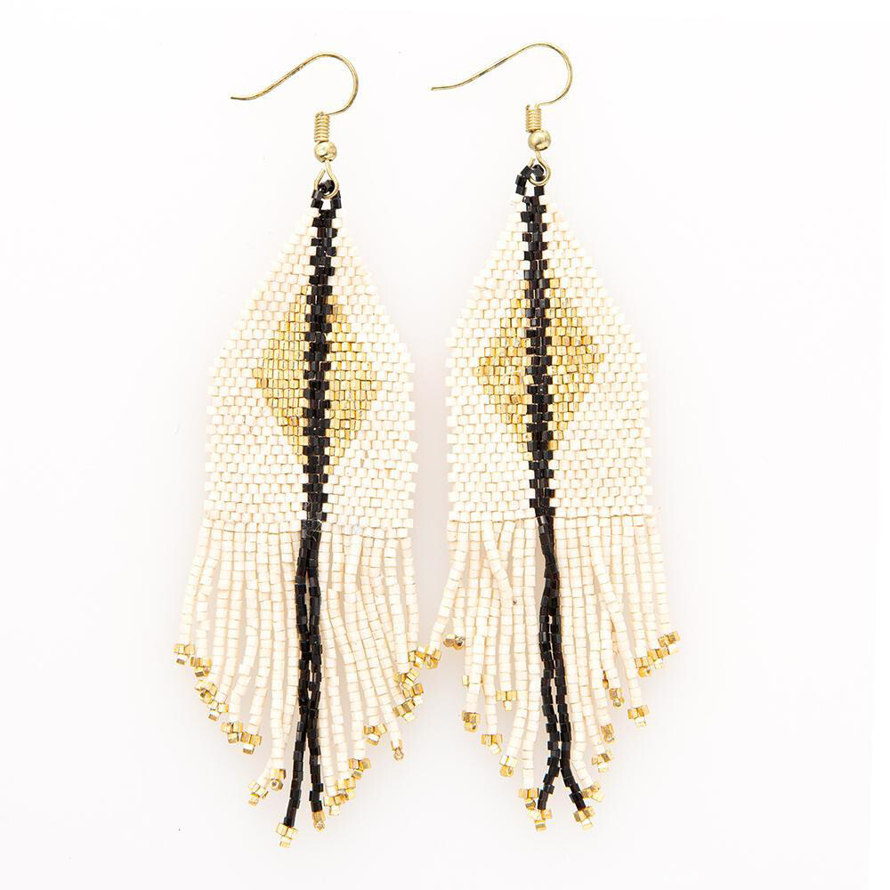 Ink & Alloy Earring Ivory/Gold 101
