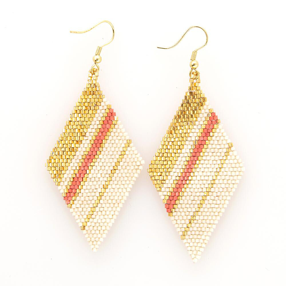 Ink & Alloy 308 Earring Pink/Gold