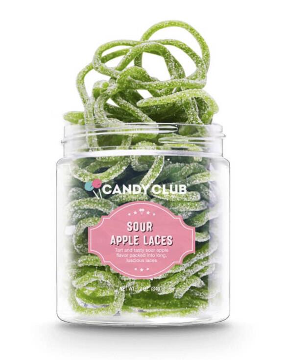 Candy Club Jar Sour Apple Laces