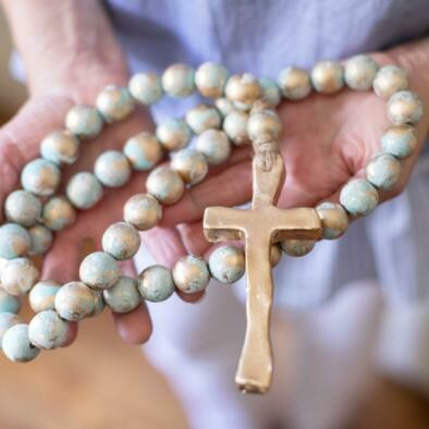 """SS Blessing Bead Long 24"""" Turquoise"""