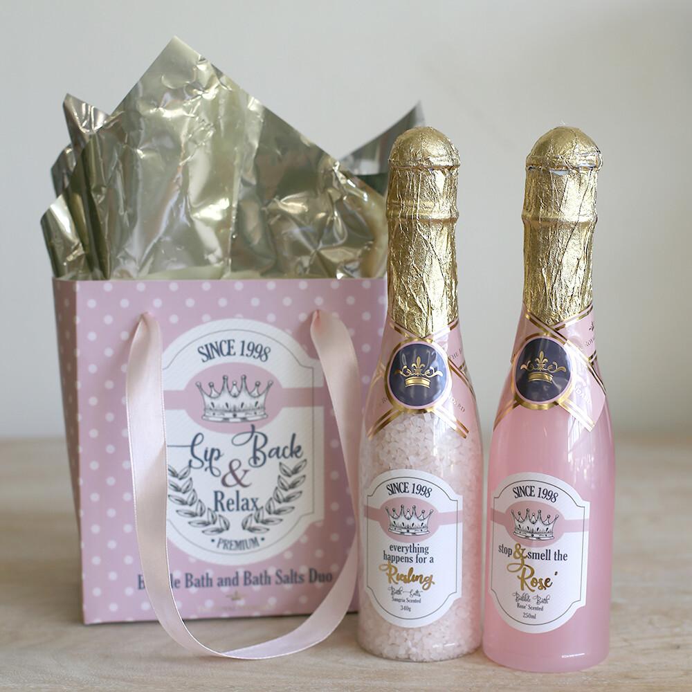 TRS Wine Down Bath Duo Gift Set
