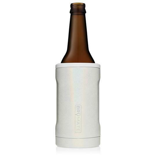 BruMate Hopsulator Bottle Glitter White
