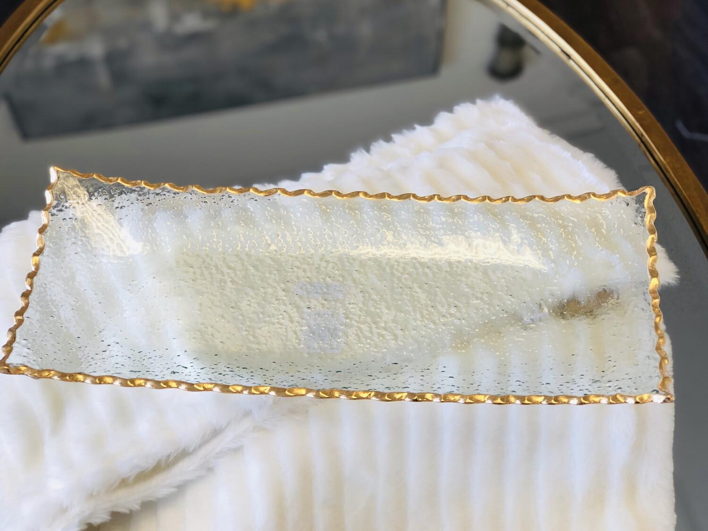 TRS Fairbanks Rectangle Platter Gold Small