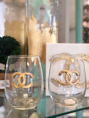 Designer Stemless Glass CC