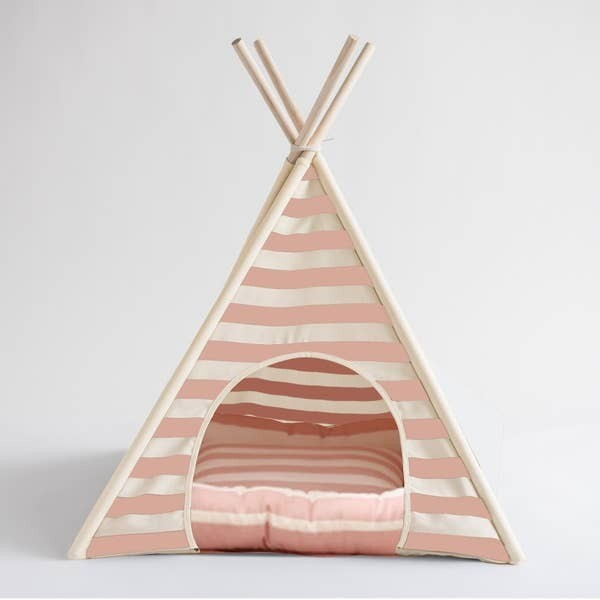 Teepee Lily Dog Tent Pink