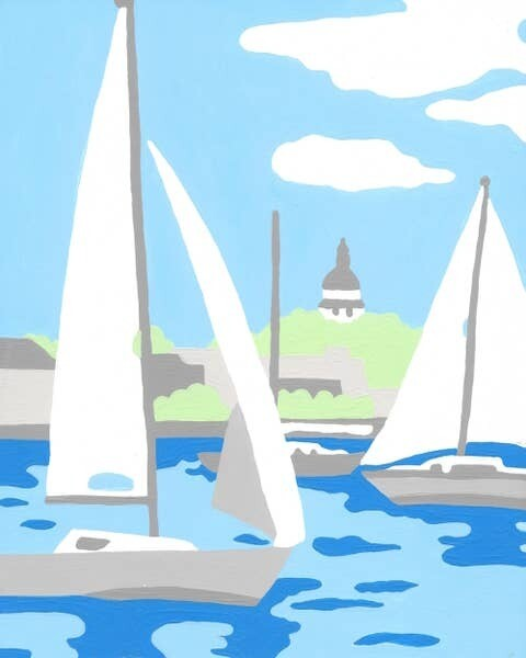 Paint by Number Sail Boats
