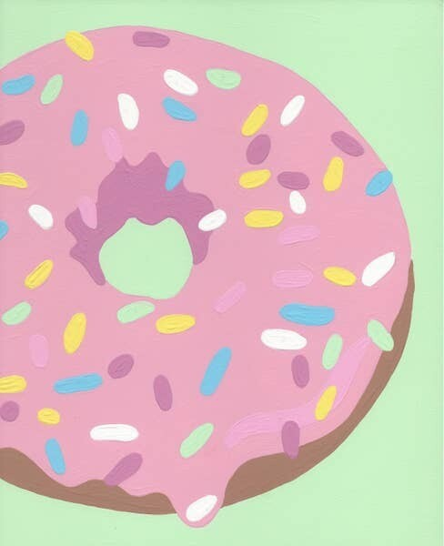 Paint by Number Donut