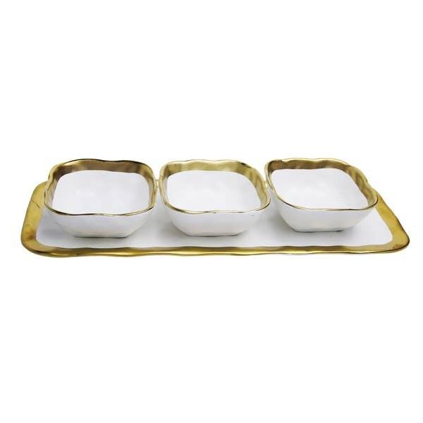 CT 3 Square Relish Dish