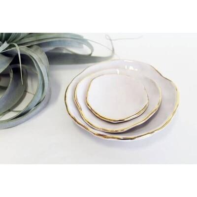 JKH Nesting Bowl Gold Edge Medium
