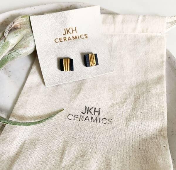 JKH Black with Middle Gold Stripe Stud