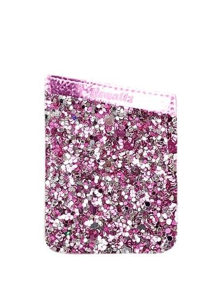 Bewaltz Glitter Phone Pocket Pink