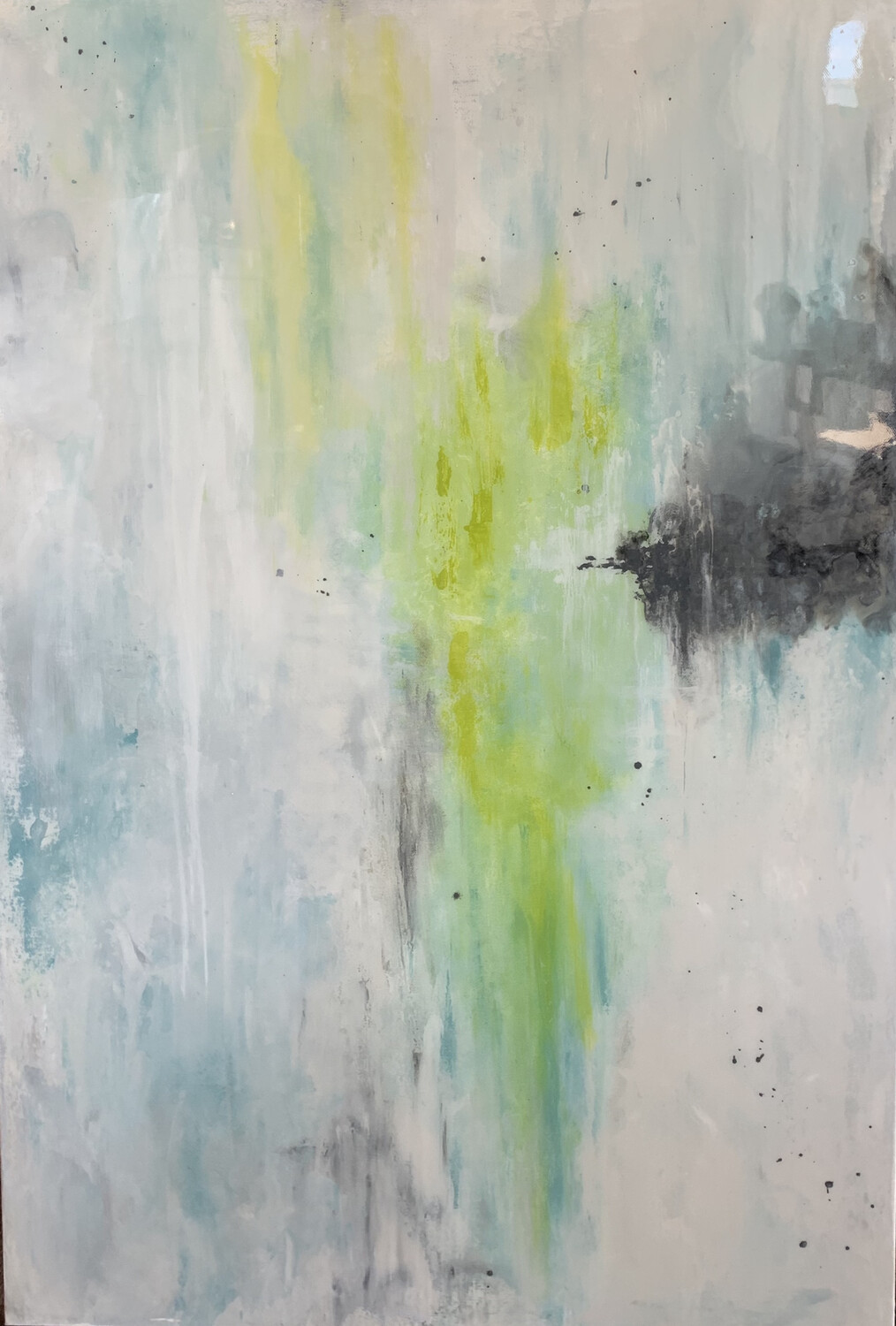 24x36 Green/Yellow Painting