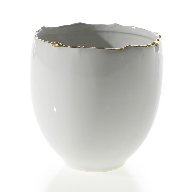 AD Evelyn Pot 5x5 White