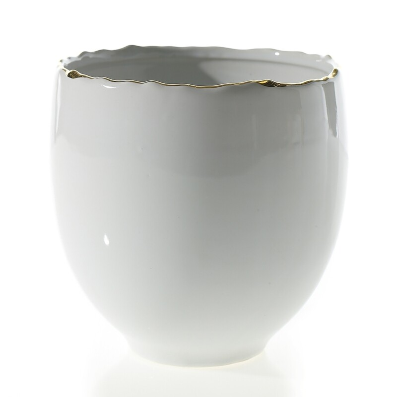 AD Evelyn Pot 6x6 White