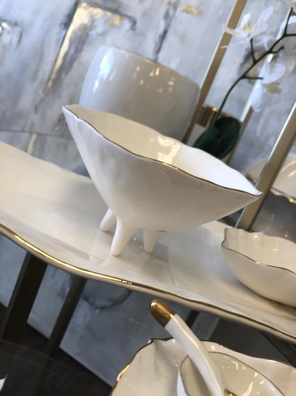 Magenta Small Footed Bowl