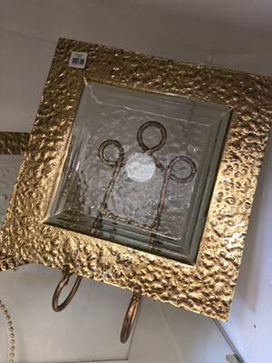 Square Serving Plate Gold