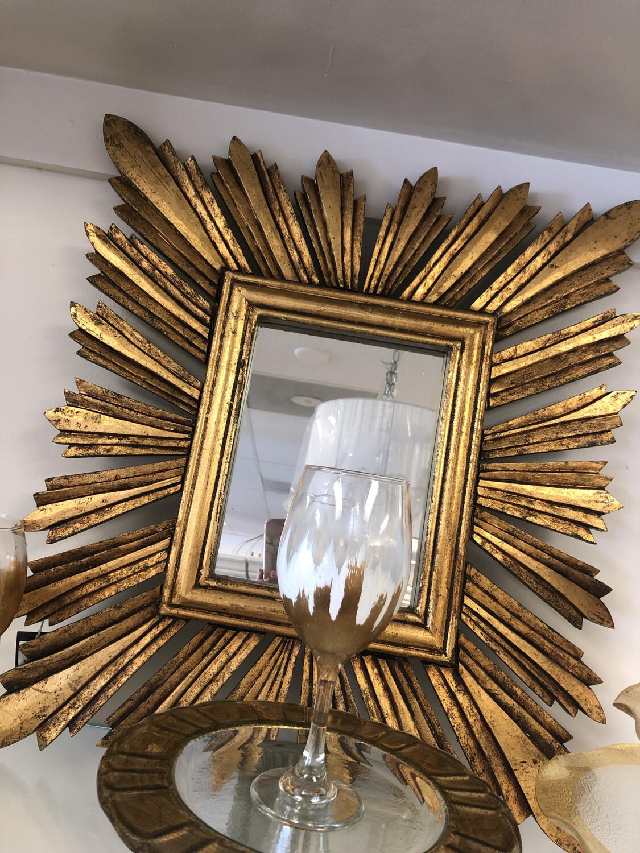 Square Sunburst Mirror