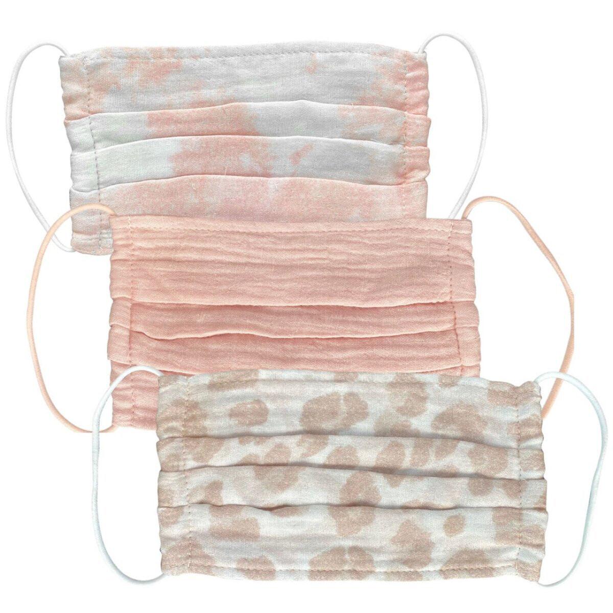 Kitsch 3-Pack Adult Face Mask Blush