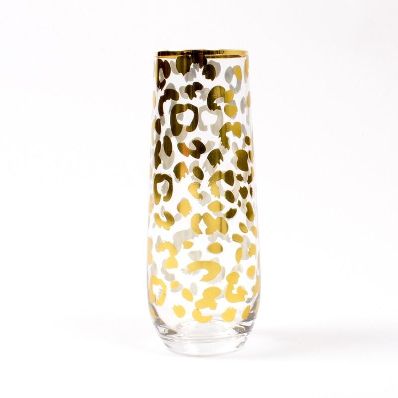 Leopard Champs Glass