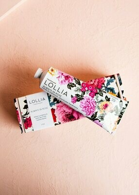 Lollia Shea Butter Hand Cream Always In Rose