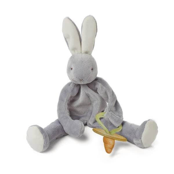 BBB Pacifier Buddy Gray Bunny