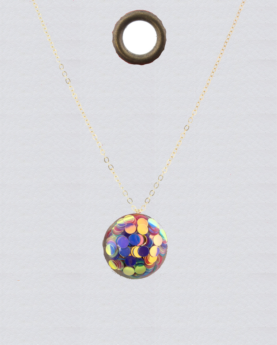 JM Confetti Necklace Circle