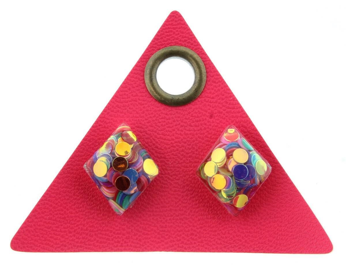 JM Confetti Earrings Diamond