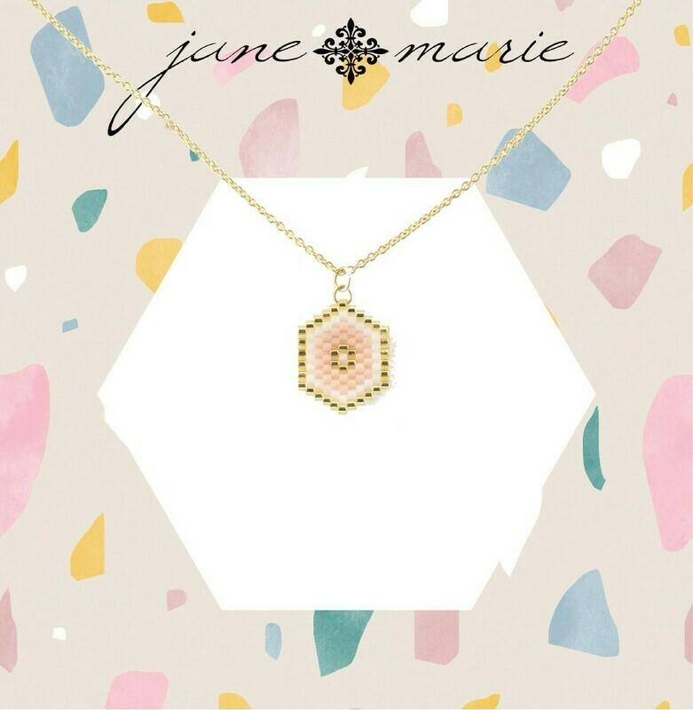JM Necklace Blush Hexagon
