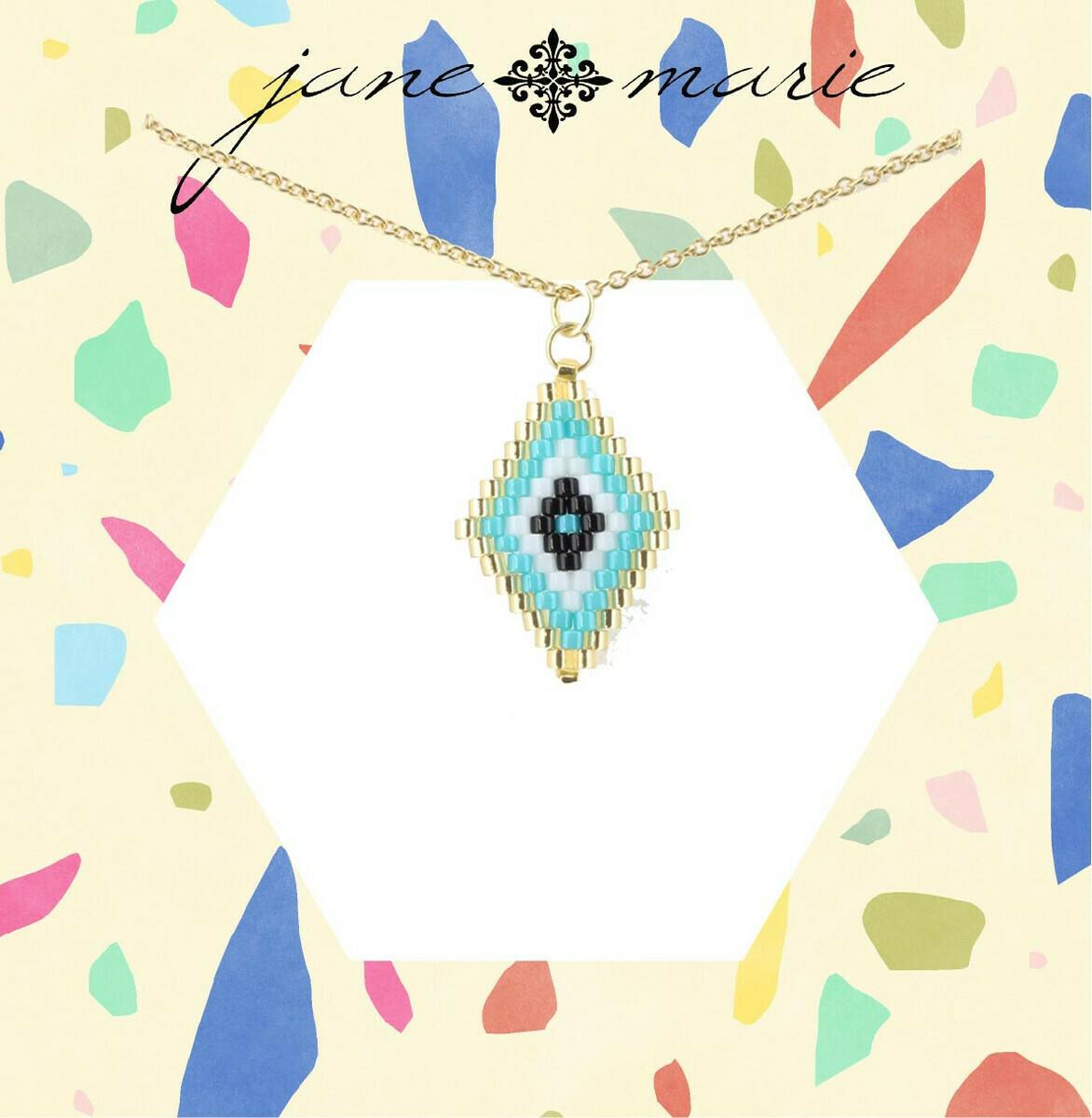 JM Necklace Blue Bead Diamond