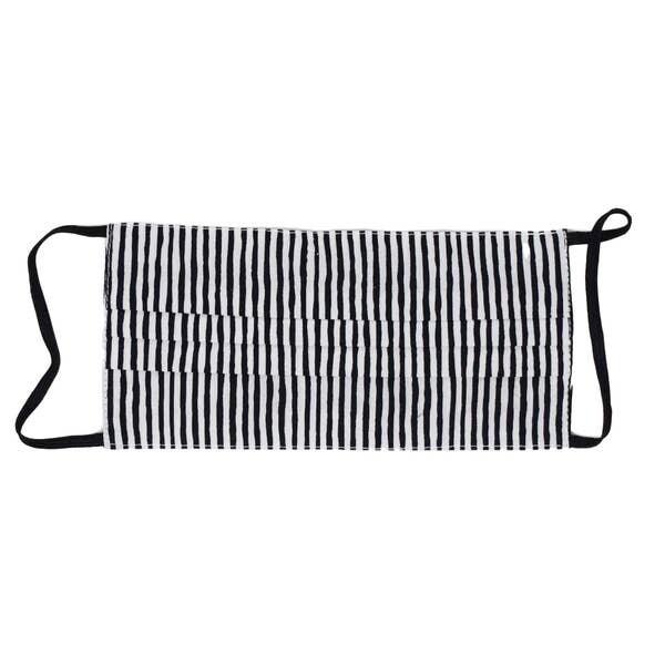 Black & White Stripe Adult Mask