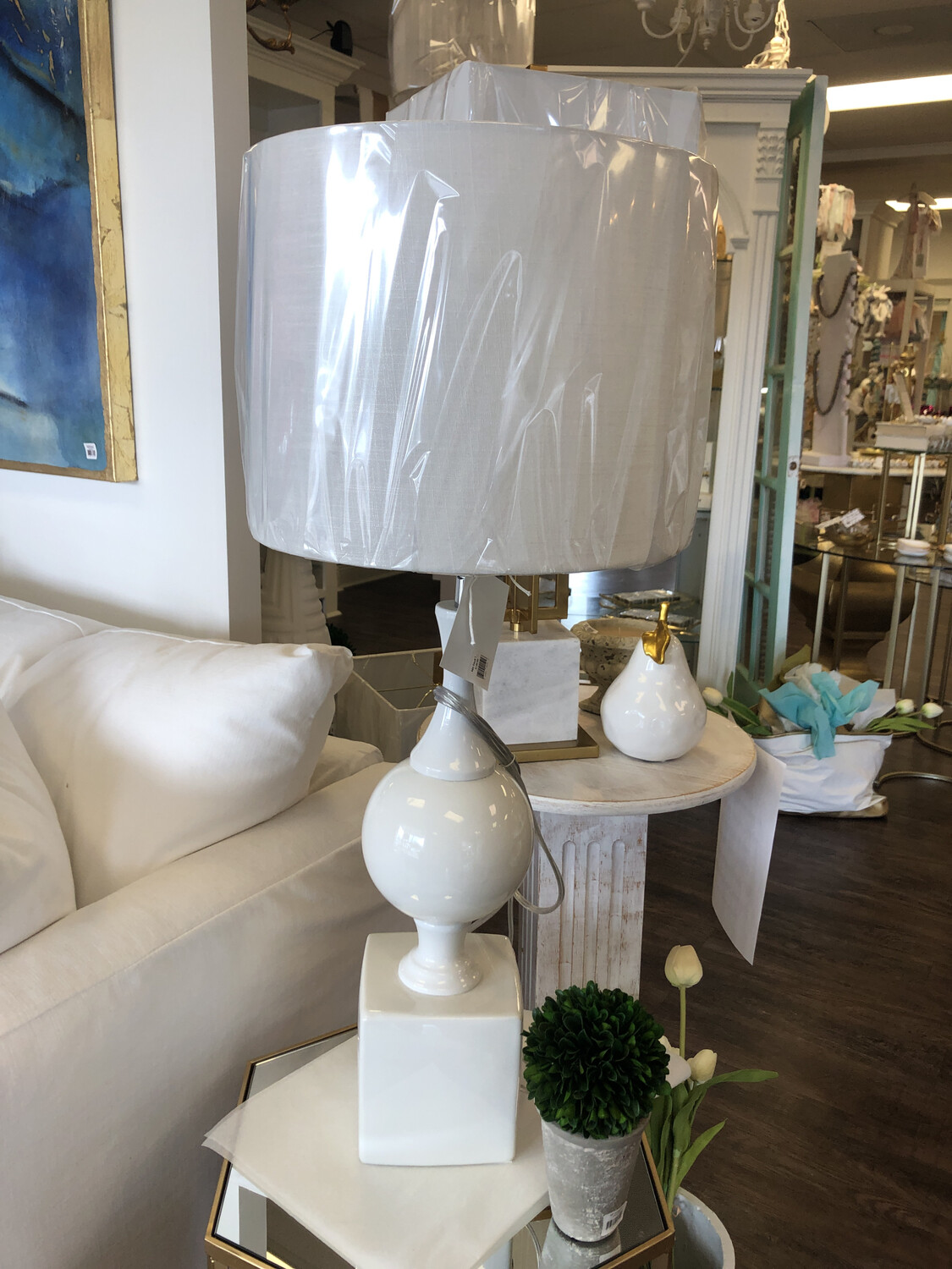 A&B Small white Table Lamp