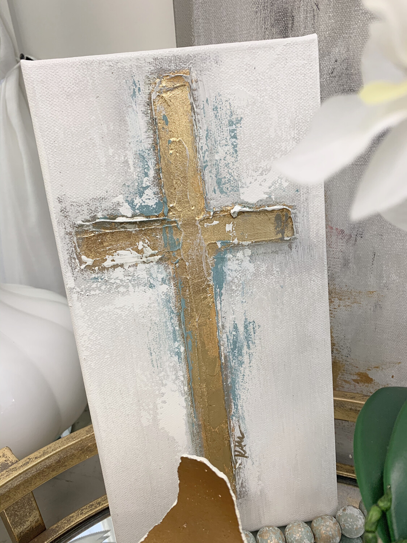 8x10 Blue Cross