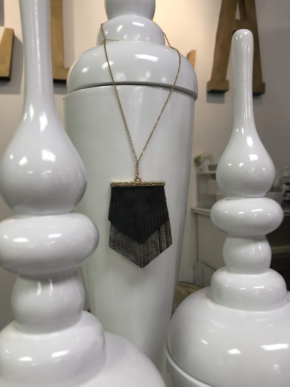 JM Leather Fringe Necklace