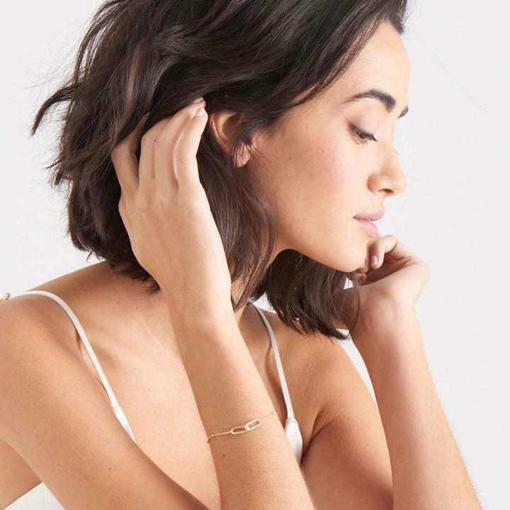 Ania Haie Beaded Chain Link Bracelet Gold