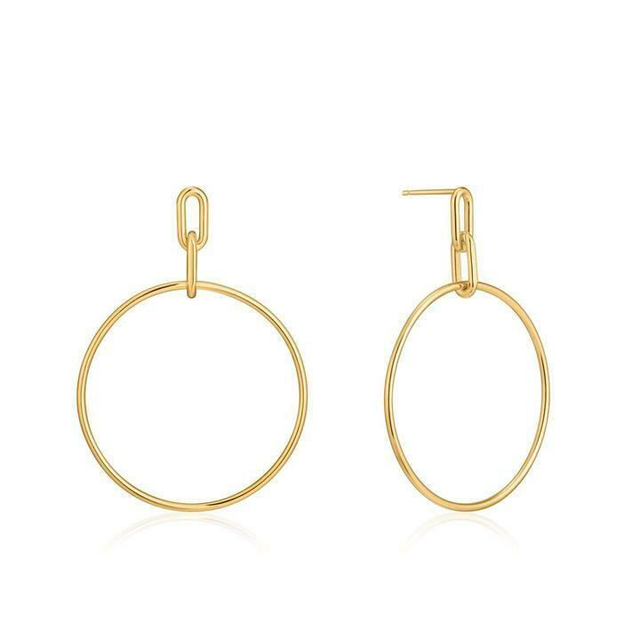 Ania Haie Cable Link Hoop Earrings Gold