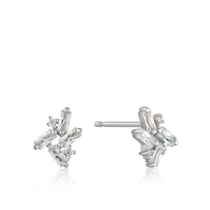 Ania Haie Cluster Stud Earrings Silver