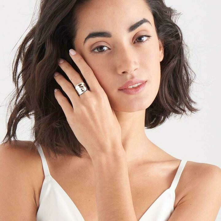 Ania Haie Crush Wide Adjustable Ring Silver