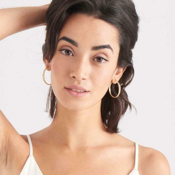 Ania Haie Curb Chain  Hoop Earrings Gold