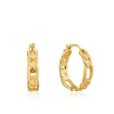 Ania Haie Figaro Chain Hoop Earrings Gold