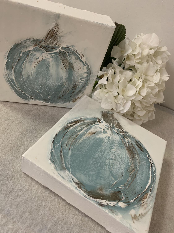 6x6 Pumpkin Painting Blue